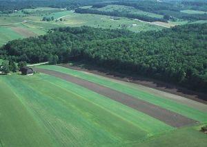 Fallow land strip farming