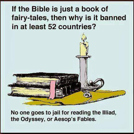 The United Nations says that there are 198 countries in the world. The Bible is outlawed in 52 of those countries. http://christiansareus.com has been seen in at least 104 countries. How many of the 104 countries that christiansareus.com has been seen in is the Bible - the subject and source of the site - outlawed in? How many people in those countries are only seeing the Gospel of Jesus Christ because they saw it at http://ChristiansAreUs.com? If you'd like to help the other 94 countries see the Gospel, SHARE this post. Click on the picture above to see a list of the top 50 rated countries that oppress Christianity (as of 2018).