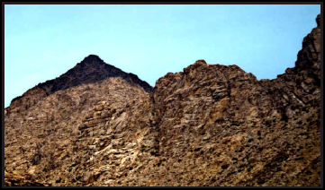 Jebel el-Lawz, the mountain charred by the fiery presence of the LORD when He gave the Law to Moses, still stands there as a quiet testimony of the historical accuracy of the Bible.
