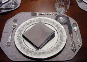 Place Setting with Folded Napkin